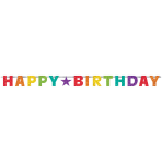 Letter Banner Birthday Accessories Rainbow Foil 230 cm