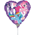 9'' My Little Pony Heart Foil Balloon A20 Bulk 23 cm