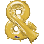 MiniShape Symbol & Gold Foil Balloon L16 Packaged 27cm x 35c