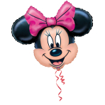 Mini Shape Minnie Mouse Foil Balloon A30 Air Filled