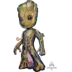 """SuperShape """"Baby Groot"""" Foil Balloon  , P38, packed, 45 x 101cm"""