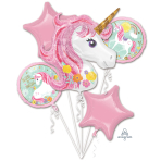 """Bouquet """"Magical Unicorn"""" 5 Foil Balloons, P75, packed"""