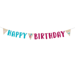 Letterbanner My Birthday Party 180cm