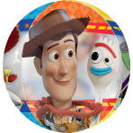 Orbz Clear Toy Story 4 Foil Balloon G40 Packaged 38cm x 40cm