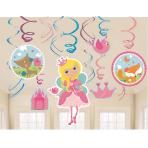 12 Swirl Decorations Woodland Princess
