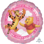 "Standard HX ""Pooh It's a Girl"" Foil Balloon, S60, packaged, 45 cm"