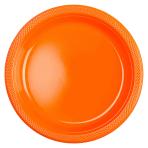 20 Plates Orange Peel Plastic Round 17.7 cm