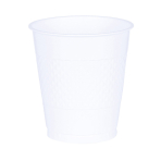 10 Cups Frosty White Plastic 355 ml