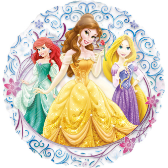 See-Thru Princesses Foil Balloon P30 Packaged 66 cm