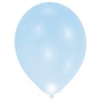 "5 Latex Balloons LED Blue 27.5 / 11"""