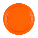 8 Plates Orange Peel Paper Round 22.8 cm