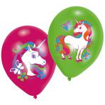 "6 Balloons 4C print Unicorn 27.5 cm/11"""
