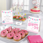 Buffet Kit Christening Pink 12 parts