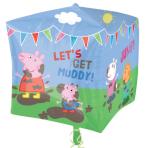 """Cubez """"Peppa Pig & Friends"""" Foil Balloon, G40, packed, 38 x 38 cm"""