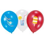"6 Latex Balloons Summer Stories 27.5 cm / 11"""