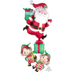 Multi Balloon Christmas Characters Stacker Foil Balloon, P70 packaged