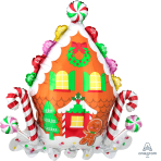 SuperShape Gingerbread House Foil Balloon P35 Packaged 71cm x 76cm