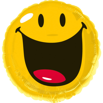 Standard Smiley Foil Balloon S60 Bulk 43 cm