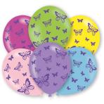 """6 Latex Balloons Butterflies 27.5 cm / 11"""""""
