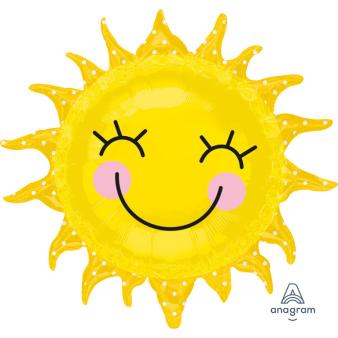 "SuperShape ""Sunshine Sun"" Foil Balloon, P35, packed, 74 x 71 cm"