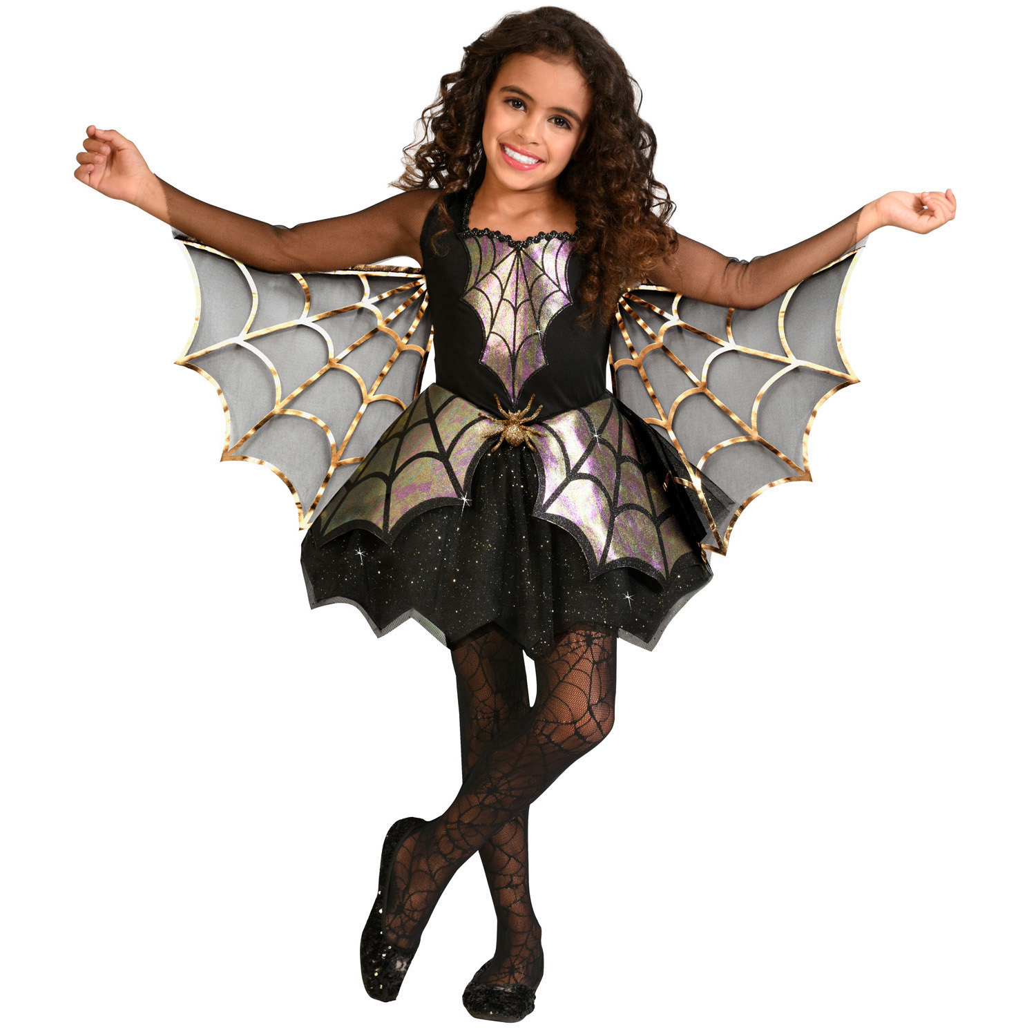 Child Costume Iridescent Spider Age 8
