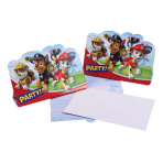8 Invitations & Envelopes Paw Patrol 14 x 8 cm