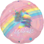 Standard Holographic Magical Rainbow Foil Balloon S55 Packaged