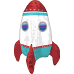 CI Multi-balloon Rocket Ship Foil Balloon A75 packaged