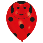 """6 Latex Balloons All Round Printed Beetles 27.5 cm / 11"""""""