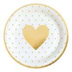 8 Plates Everyday Love Paper Round 22.8 cm