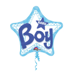 Multi Balloon Baby Boy Foil Balloon P75 Packaged 81 x 81 cm