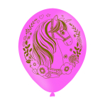 6 Latexballoons Magical Unicorn All Over Print 27,5 cm/11""