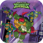 8 Plates Rise Of The Teenage Mutant Ninja Turtles Paper Squared 17.7 x 17.7 cm