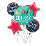 Bouquet Reason to Celebrate Foil Balloon P75 packaged