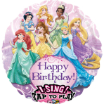 Sing-A-Tune Princess Birthday Foil Balloon P75 Packaged 71 x71 cm