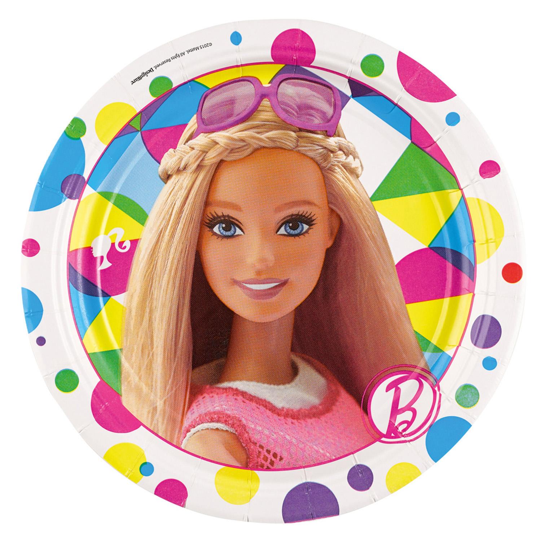 8 Plates Barbie Sparkle Paper 17 7 Cm Amscan Europe