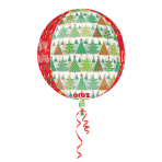 """Orbz Christmas Trees & Lights """" Foil Balloon Clear, G20, packed, 38x40 cm"""