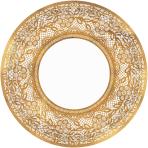 8 Plates Delicate Lace round  metallic paper 26,7cm