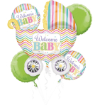 "Bouquet ""Baby Brights"" 5 Foil Balloons, P75, packed"