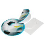 6 Invitations & Envelopes Soccer Party