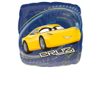 "Standard ""Cars 3 - Jackson & Cruz"" Foil Balloon Square, S60, packed, 43cm"