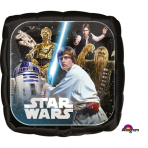 """Standard """"Star Wars Classic"""" Foil Balloon Square, S60, packed, 43cm"""