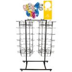 120-Peg Floor Dual Spinner Black 122 x 61 x 183 cm