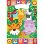 8 Party Bags Jungle Animals Plastic 23.2 x 16.3 cm
