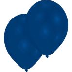"10 Latex Balloons Standard Blue 27.5 cm / 11"""