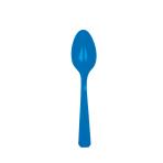 10 Spoons Bright Royal Blue Plastic 14.7 cm