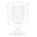 40 Tiny Pedestal Glasses Plastic Clear 59 ml