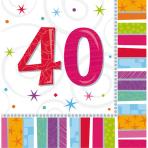 16 Napkins Radiant Birthday 40 33 x 33 cm