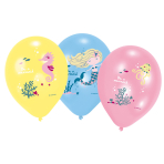 6 Latex Balloons Be a Mermaid 27.5 cm / 11""