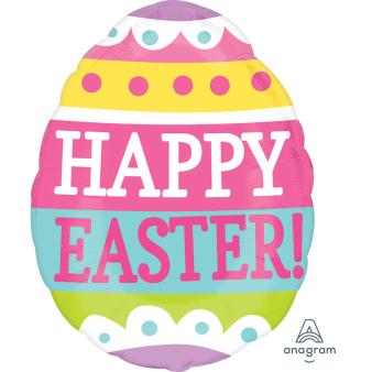 """Junior Shape """"Springy Easter Egg"""" Foil Balloon, S50, packed, 40 x 30cm"""
